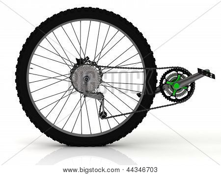 Rear Wheel Of A Sports Bike