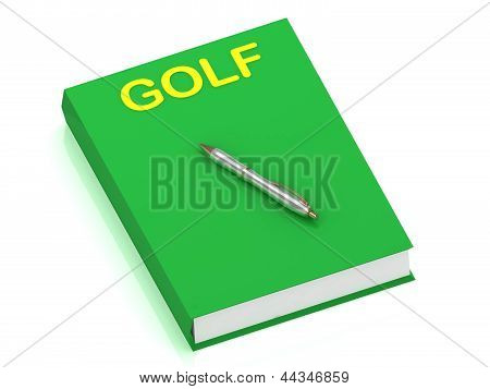 Golf Name On Cover Book