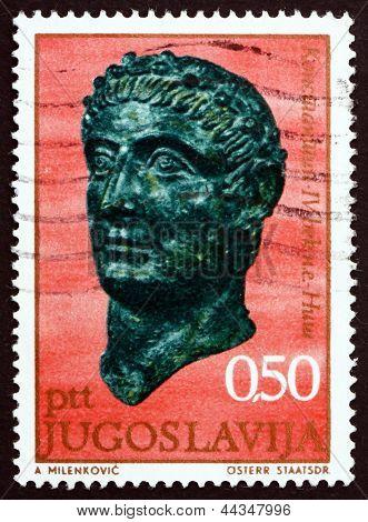 Postage Stamp Yugoslavia 1971 Emperor Constantine