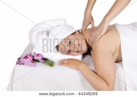 Back Massage At Day Spa By Masseuse