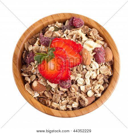 Muesli And Strawberry