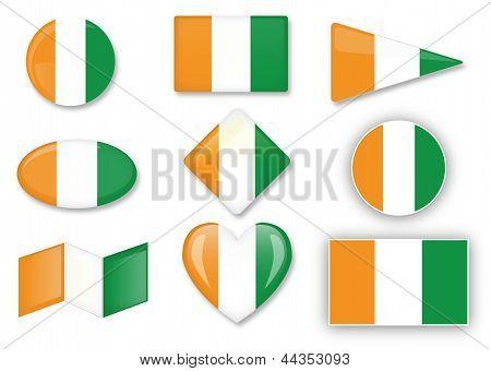Cote Divoire Flagge