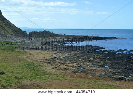 A view back to the Giant's Causeway