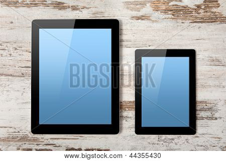 Tablet Computer And Mini Tablet With Isolated Screen