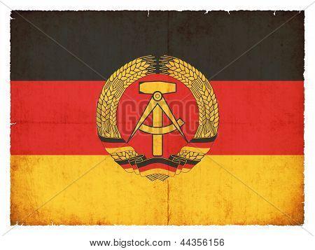 Grunge Flag Of The German Democratic Republic (ddr)