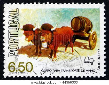 Postage Stamp Portugal 1979 Wine Sledge