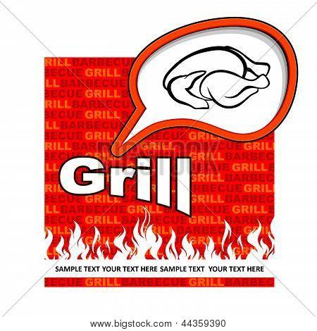 Grill label design.