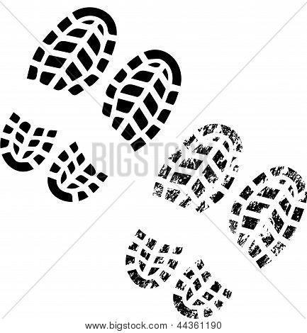 Impressão de sapatos