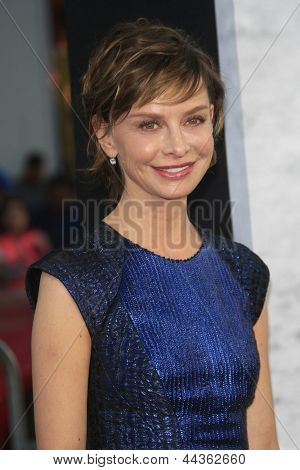 LOS ANGELES - APR 9: Calista Flockhart at the Los Angeles Premiere of '42' at TCL Chinese Theater on April 9, 2013 in Los Angeles, California