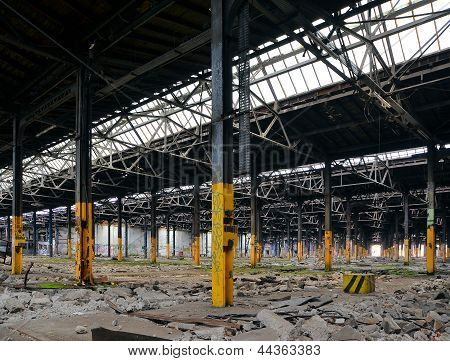 abandoned and dilapidated former factory