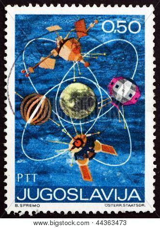 Postage Stamp Yugoslavia 1971 Satellites