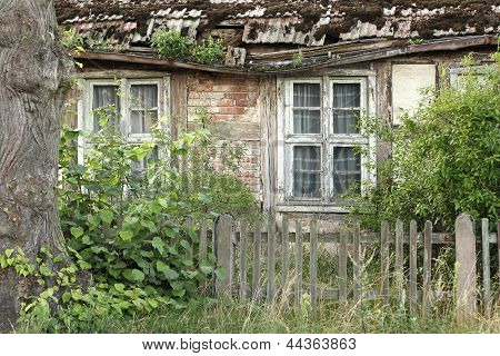 Dilapidated Half-timbered House In The Uckermark