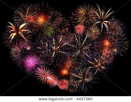 Beautiful Big Firework Heart