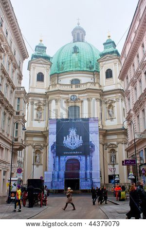 WIEN,AUSTRIA - DECEMBER 24: Saint Peter's Church on December 24, 2012 in Wien, Austria.
