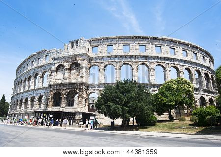 Amphitheater in Pula,Croatia
