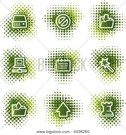 Data Web Icons, Green Dots Series