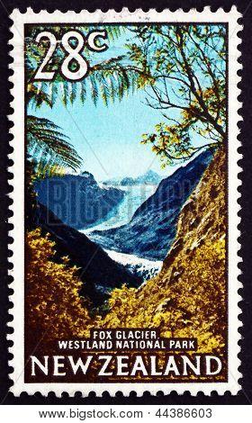 Postage Stamp New Zealand 1968 Fox Glacier, Westland National Pa