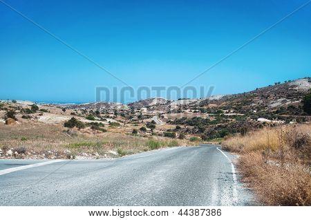 Cyprian wild rocky landscape