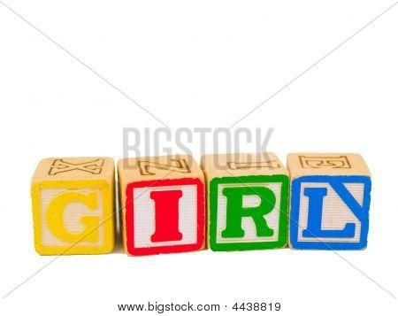 Abc Blocks Spelling Girl