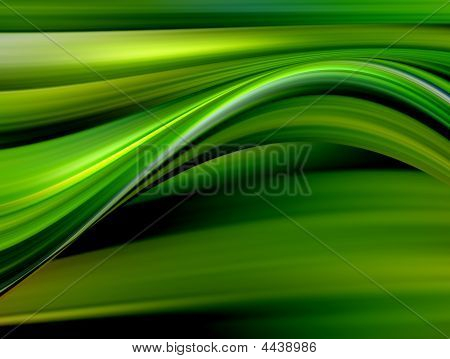Green And Yellow Waves