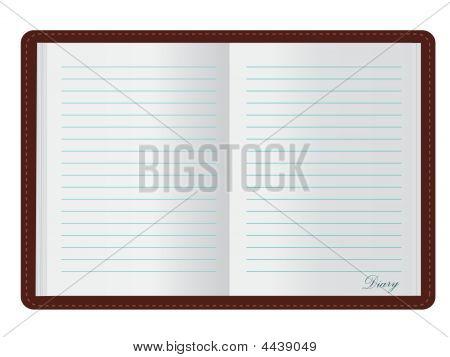 Öffnen Sie Tagebuch