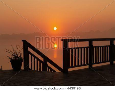 Sunup Over Twin Lakes, Iowa