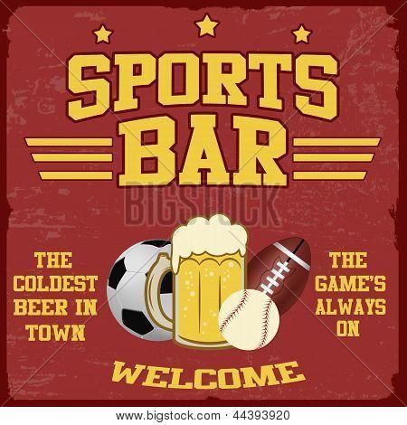 Sport Bar Poster