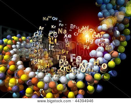 Chemical Elements Backdrop