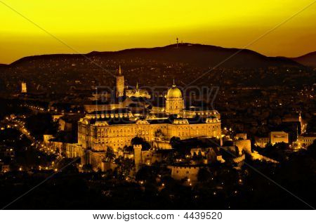 Budapest Royal Palace Sunset