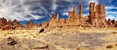stock photo of cloud formation  - Rocks of Sahara Desert - JPG