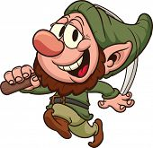 foto of  midget elves  - Happy dwarf miner - JPG