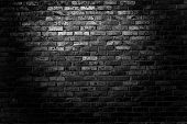 stock photo of urbanization  - Old grunge brick wall background - JPG