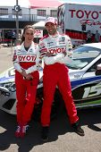 LOS ANGELES - APR 9:  Kate del Castillo, Jesse Metcalfe at the Toyota ProCeleb Race Press Day 2013 a