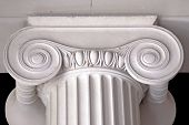 picture of neoclassical  - neoclassical ionic white column ancient architectural details - JPG