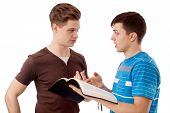 stock photo of evangelism  - Young man explains God - JPG