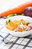 foto of pancit  - pancit canton for merienda or snacks popularize in the Philippines - JPG