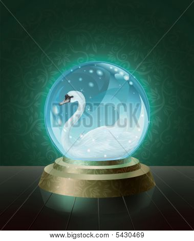 Swan Crystal Ball