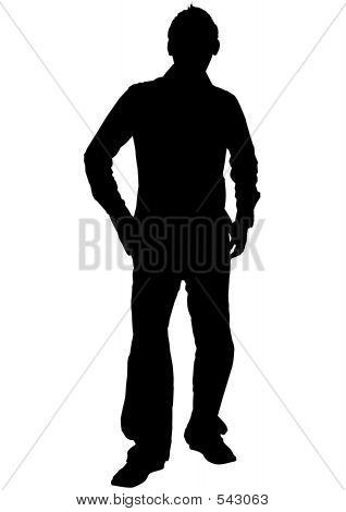 Male Silhouette Image & Photo   Bigstock