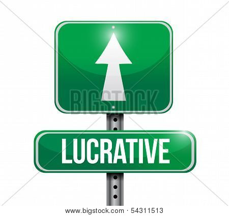 Lucrative Road Sign Illustration Design