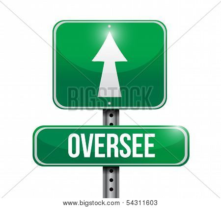 Oversee Road Sign Illustration Design
