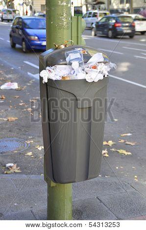 Street Paper Bin