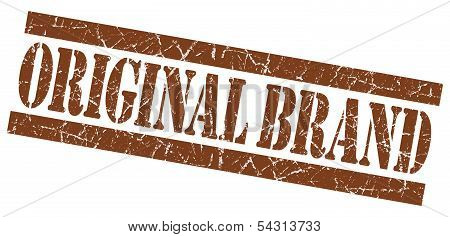 Original Brand Grunge Brown Stamp