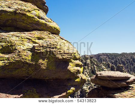 Balanced Rocks Facing Blue Sky