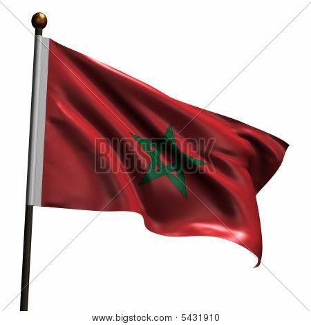 High Resolution Flag Of Morocco