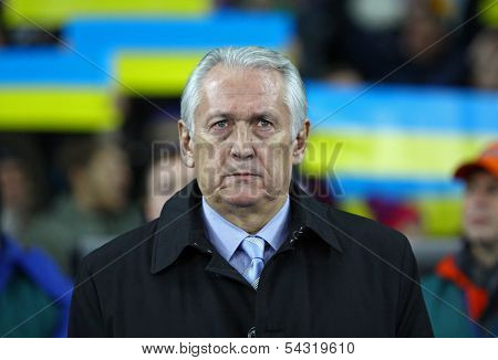 Head Coach Of Ukraine National Football Team Mikhail Fomenko