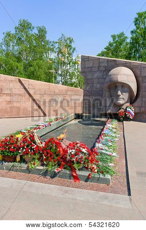 Samara, Russia - The Eternal Flame In The Memorial Complex Of City Samara