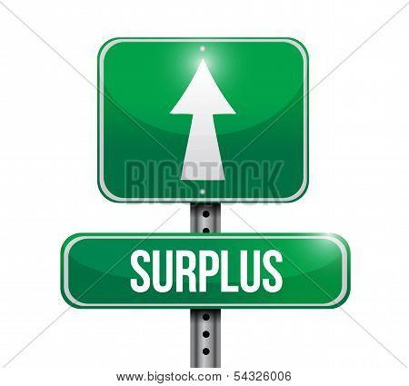 Surplus Road Sign Illustration