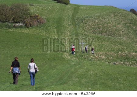 Hikers In The Countryside