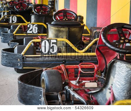 Row Of Go-carts