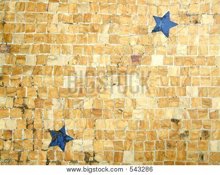 Floor Mosaic Tile Stars Pattern